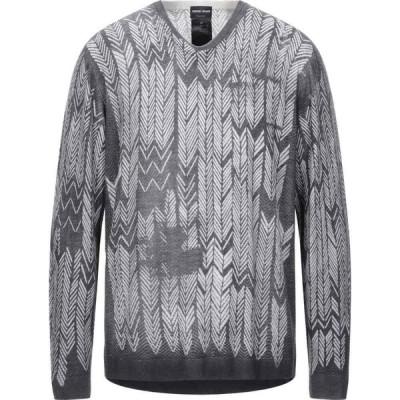 アルマーニ GIORGIO ARMANI メンズ ニット・セーター トップス sweater Steel grey