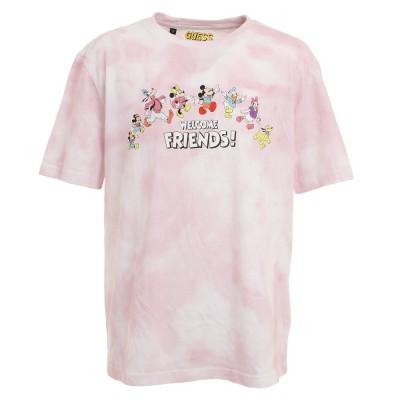 GUESSウェアMickey & Friends Collection タイダイ半袖Tシャツ ML2K7775DMPNKピンク