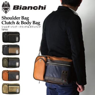 (ビアンキ) Bianchi ショルダーバッグ クラッチバッグ ボディバッグ ワンショルダー フェイクレザー メンズ レディース