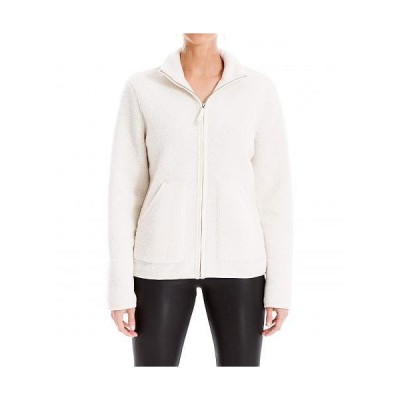MAXSTUDIO レディース 女性用 ファッション アウター ジャケット コート Front Zip Jacket - Ivory