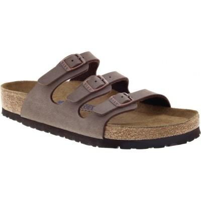 ビルケンシュトック Birkenstock レディース サンダル・ミュール シューズ・靴 Florida Birkibuc Soft Footbed Sandals Mocha