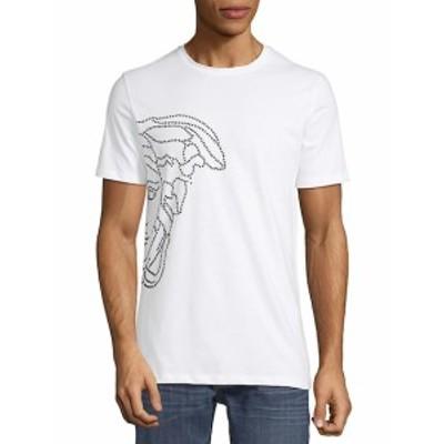 ヴェルサーチコレクション メンズ スポーツ アウトドア Jersey Cotton Logo T-Shirt