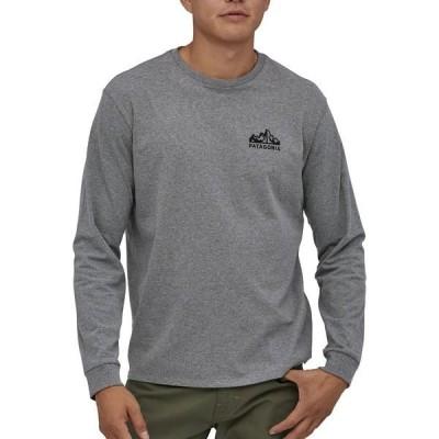 パタゴニア シャツ トップス メンズ Patagonia Men's Fitz Roy Scope Responsibili-Tee Long Sleeve T-Shirt GravelHeather