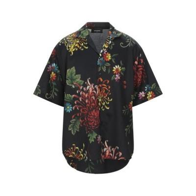 DSQUARED2 柄入りシャツ  メンズファッション  トップス  シャツ、カジュアルシャツ  長袖 ブラック