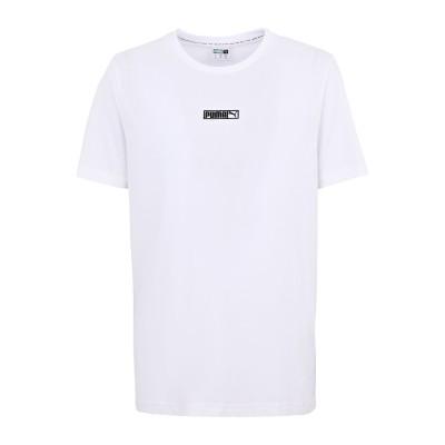 プーマ PUMA T シャツ ホワイト M コットン 100% T シャツ