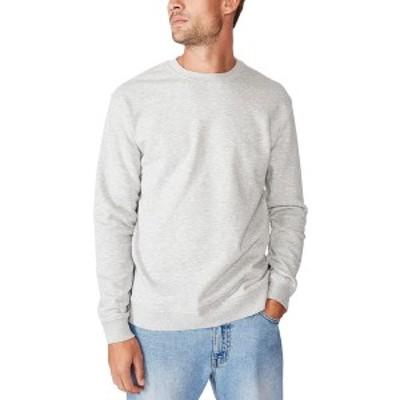 コットンオン メンズ ニット&セーター アウター Men's Essential Crew Fleece Gray