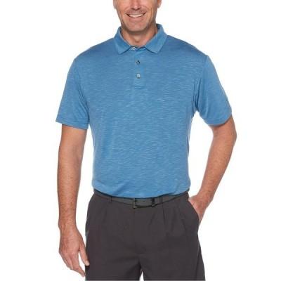 PGAツアー ポロシャツ トップス メンズ Men's Textured Golf Polo Dark Blue