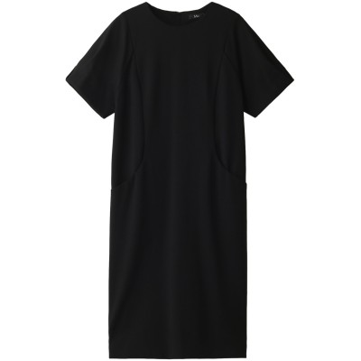 M・fil エムフィル ポンチ変形スリーブドレス レディース ブラック 40