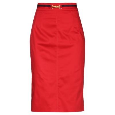 CLIPS MORE ひざ丈スカート レッド 42 コットン 97% / ポリウレタン 3% ひざ丈スカート