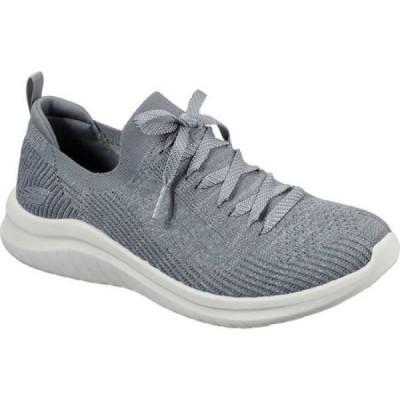 スケッチャーズ Skechers レディース スリッポン・フラット シューズ・靴 Ultra Flex 2.0 Flash Illusion Sneaker Gray