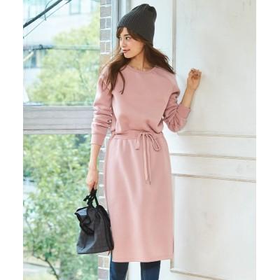 【大きいサイズ】 裏起毛ウエスト切替ワンピース ワンピース, plus size dress