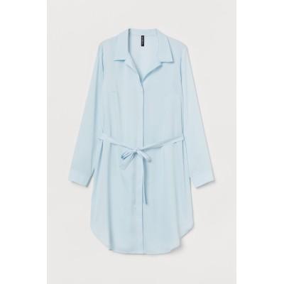 H&M - ショートシャツドレス - ターコイズ
