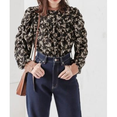 natural couture / 【WEB限定カラー有り】2WAYギャザーパフ配色花柄ブラウス WOMEN トップス > シャツ/ブラウス
