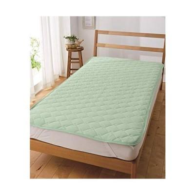 [nissen(ニッセン)] ベッドパッド・敷きバッド シンプル 洗濯機洗いOK 吸汗速乾ドライニット敷きパッド ミントブルー 2・セミダブ
