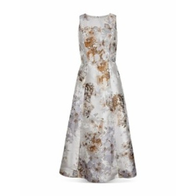 テッドベーカー レディース ワンピース トップス Vanilla Floral Jacquard Full Skirted Dress White