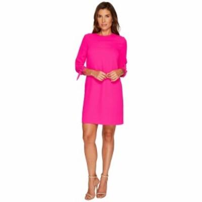 シーシー CeCe レディース ワンピース シフトドレス ワンピース・ドレス 3/4 Tie Sleeve Moss Crepe Shift Dress Hot Magenta