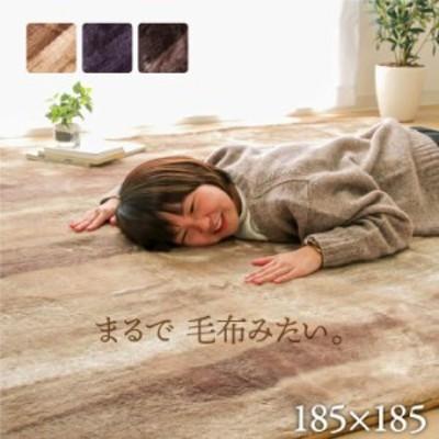 ラグ カーペット 2畳 洗える 3畳 おしゃれ シャギー 絨毯 年中 無地 ラグマット 洗濯 防音 正方形 厚手 格安 シンプル 185×185