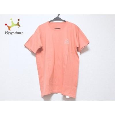 パパス Papas 半袖Tシャツ サイズM メンズ 美品 - ライトブラウン クルーネック 新着 20201113
