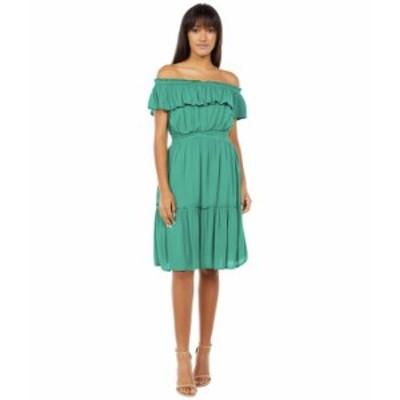 トッミーバハマ レディース ワンピース トップス Caicos Crinkle Off-the-Shoulder Short Dress Green Charm