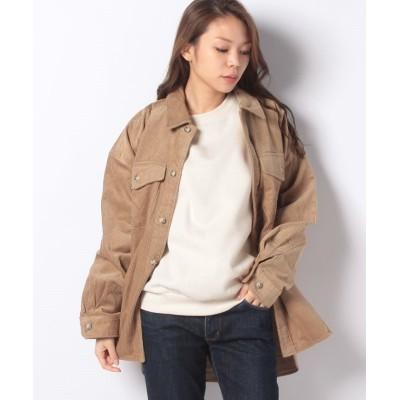 【コエ】 綿コーデュロイシャツジャケット レディース キャメル S koe