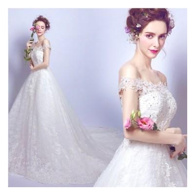 ウエディングドレス 安い ロングドレス マタニティドレス 結婚式 エンパイア お呼ばれ ブライダル 二次会 花嫁 トレーンドレス 大きいサイズ 妊婦可
