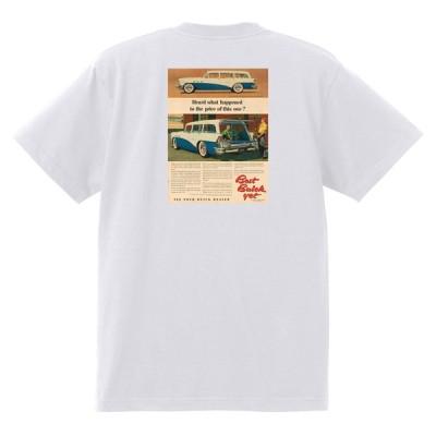 アドバタイジング ビュイック 284 白 Tシャツ 黒地へ変更可能 1956 スーパー リビエラ センチュリー ロードマスター オールディーズ