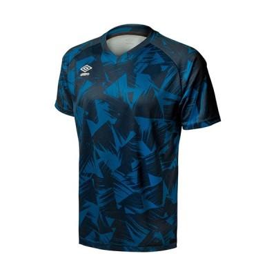 アンブロ(UMBRO) メンズ サッカー TRグラフィックセカンダリーシャツ ネイビー UUUPJA55 NVY 半袖 Tシャツ トップス 練習