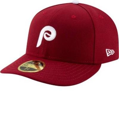 ニューエラ メンズ 帽子 アクセサリー New Era Men's Philadelphia Phillies 59Fifty Alternate Maroon Low Crown Fitted Hat