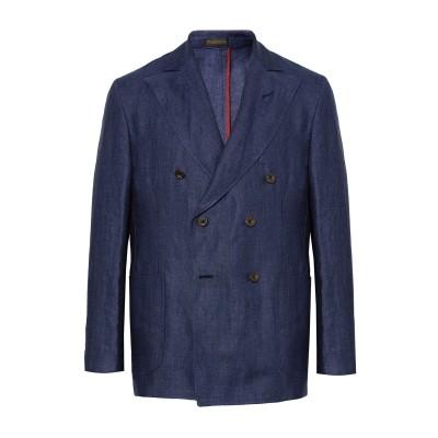 MARIANO RUBINACCI テーラードジャケット ダークブルー 50 100% 麻 テーラードジャケット