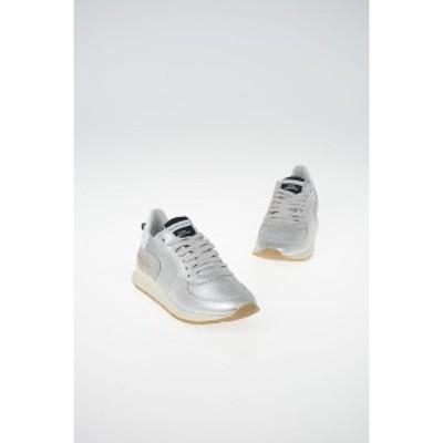 PHILIPPE MODEL PARIS Silver レディース Leather MONTECARLO Sneakers dk