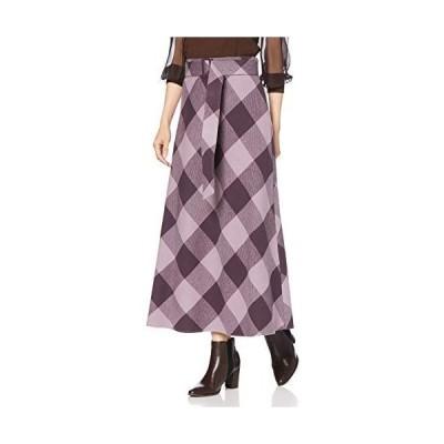 [ミラオーウェン] ブロックチェックバイアスナロースカート 09WFS204155 レディース PPL 日本 0 (日本サイズ7 号相当)