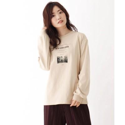 WORLD ONLINE STORE SELECT / 【WEB限定LLサイズあり】フォトプリントロンT WOMEN トップス > Tシャツ/カットソー