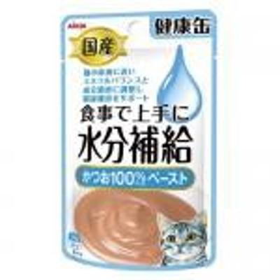 【新品/取寄品/代引不可】国産健康缶パウチ 水分補給かつおペースト 40g