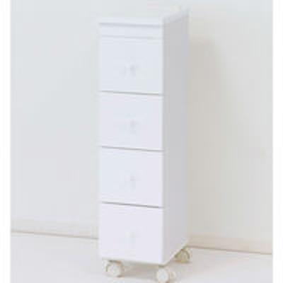 クロシオクロシオ スリムワゴン 89316 幅200×奥行310×高さ790mm ホワイト Q0049 1台(直送品)