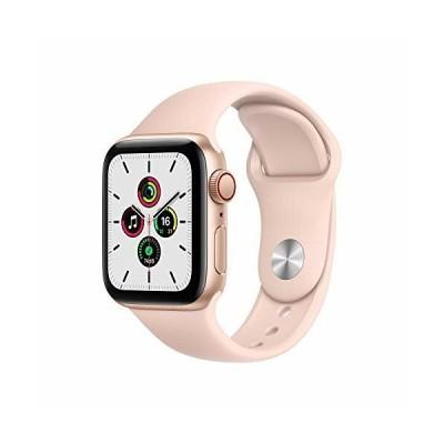 Apple Watch SE GPS+Cellularモデル 40mm ゴールドアルミニウムケースとピンクサンドスポーツバンド レギュラー MYEH2J/A