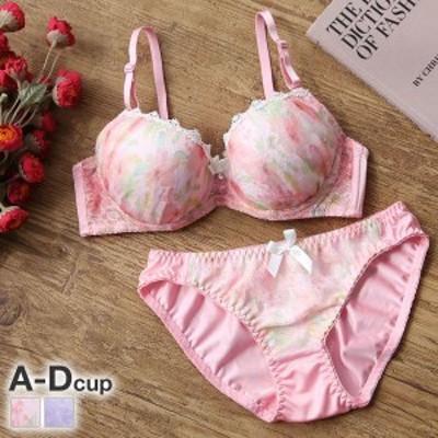 (ロマンティックドール)Romantic doll オーガンジーフローラ ブラジャー ショーツ セット ABCD