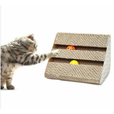 スクラッチボード 三角 爪とぎ 爪磨き 猫 おもちゃ ネコ ダンボール