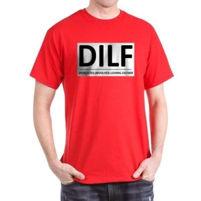 ユニセックス 衣類 トップス CafePress - DILF Blkgry T Shirt - 100% Cotton T-Shirt Tシャツ