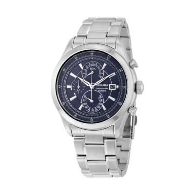 セイコー クロノグラフ ブルー ダイヤル ステンレス スチール メンズ 腕時計 SPC165