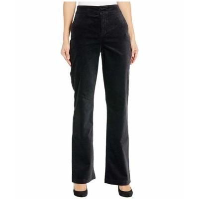 エヌワイディージェイ カジュアルパンツ ボトムス レディース Velvet High-Waist Trouser Pants Black