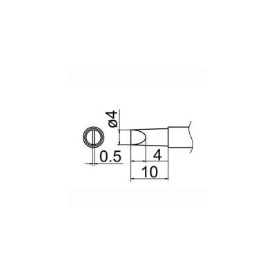 【メール便選択可】白光 T12-D4Z 4D型 Z T12シリーズ交換こて先 HAKKO