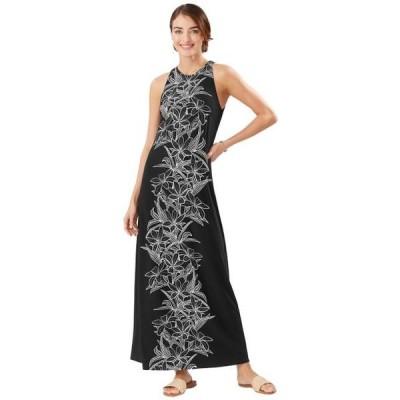 ユニセックス スカート ドレス Midnight Blooms Maxi Dress