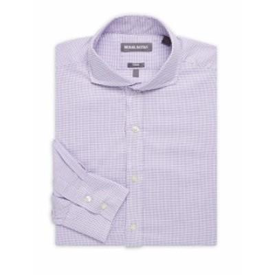 マイケルバスティアン Men Clothing Box Neat Cotton Dress Shirt