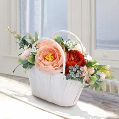 造花 枯れない花 インテリア ギフト 大切な人へ感謝の気持ちを伝える 花束 アートフラワー ソープフラワー ローズバスケット アレンジ 花