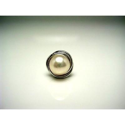 真珠 ネクタイピン パール アコヤ真珠 7.6mm シルバー 56805