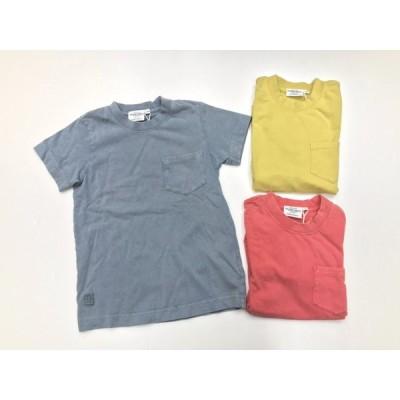 子供服 夏物 男女兼用 半袖Tシャツ 100cm〜130cm ティーシャツ ヴィンテージ風 シンプル カラー 無地 胸ポケット 無印
