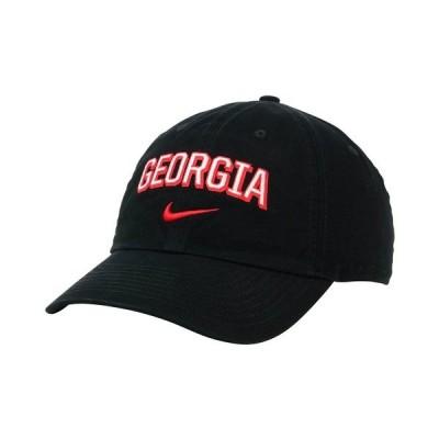 ナイキ 帽子 アクセサリー メンズ Georgia Bulldogs H86 Wordmark Swoosh Cap Black
