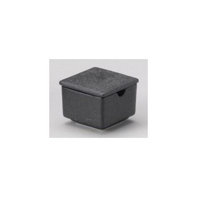 和食器黒びぜん角辛子入れ/大きさ・6.3×4.9cm