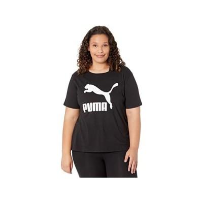 (取寄)プーマ レディース プラス サイズ クラシックス ロゴ ティー PUMA Women's Plus Size Classics Logo Tee PUMA Women's Black