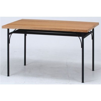 食卓テーブル ナチュラル 幅120×奥行80×高さ72cm 組立品〔代引不可〕